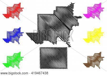 Jackson And Grant County, Oklahoma State (u.s. County, United States Of America, Usa, U.s., Us) Map