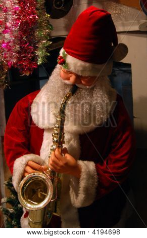 Santa En Saxophone