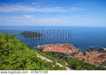 Medieval City Of Dubrovnik, Croatia. Fortified Old Town. Unesco World Heritage Site.