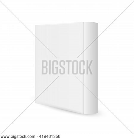 Blank Vertical Book Template Isolated On White Background. Vector Illustration.