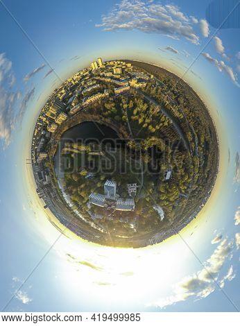 Circle Panorama Of Public Park 360 Degree Panorama