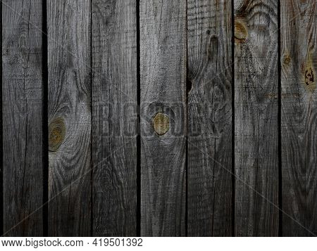 Gray And White Old Wooden Plank Texture Background. Top View Of A Weathered Wooden Table. Vintage Wo