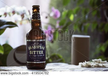 Ankara, Turkey - May 11, 2020: Bottle Of Brakspear Bitter, One Of The Most Popular English Beers In