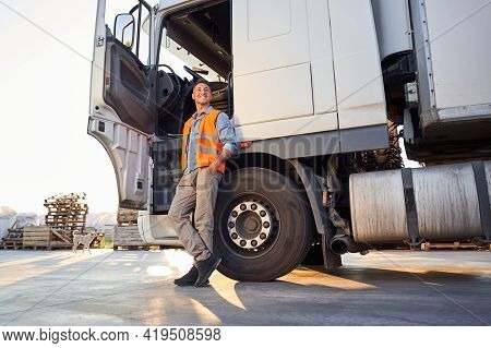 Day Time Shot Of A Driver Hear Truck