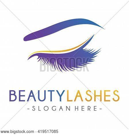 Luxury Beauty Eye Lashes Logo Design Inspiration Vector