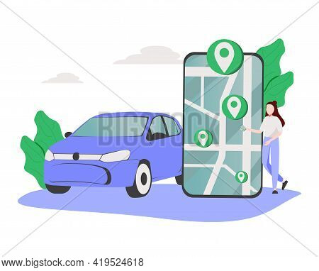Online Store Pickup Service Abstract Concept Vector Illustration. Reserve Parking Space, Curbside Pi