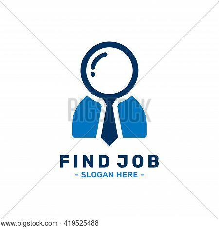 Find Job Logo Design Template. Talent Finder Logo. Search Work Vector Illustration.