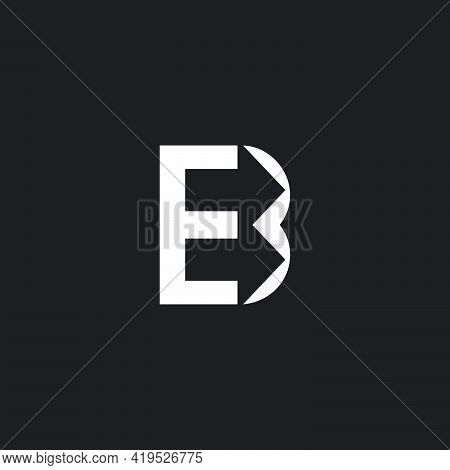 Abstract Letter Be Geometric Arrow Simple Unique Logo Vector