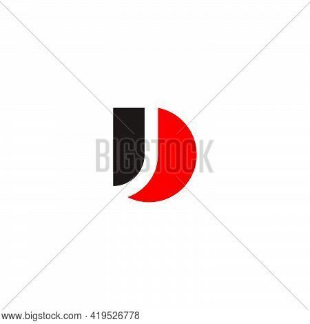Letter D Curves Geometric Clear Concept Logo Vector