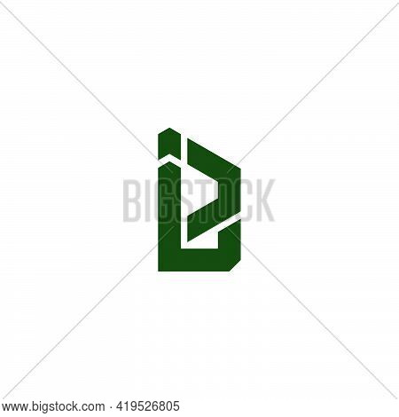 Letter Le Simple Geometric Line Logo Vector