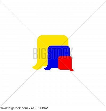 Simple Colorful Geometric Cute Kid Education Symbol Vector