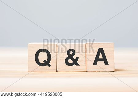 Q And A Word With Wooden Cube Block. Faq( Frequency Asked Questions), Answer, Question  Ask, Informa