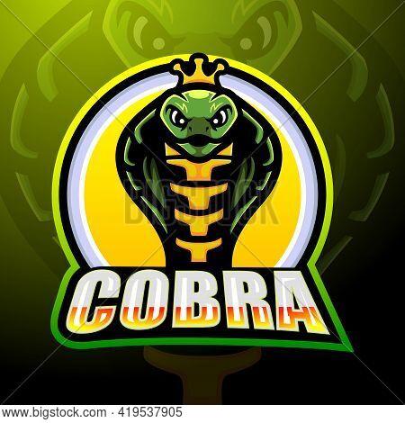 Vector Illustration Of Cobra Mascot Esport Logo Design