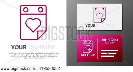 Logotype Line Doctor Appointment Icon Isolated On White Background. Calendar, Planning Board, Agenda