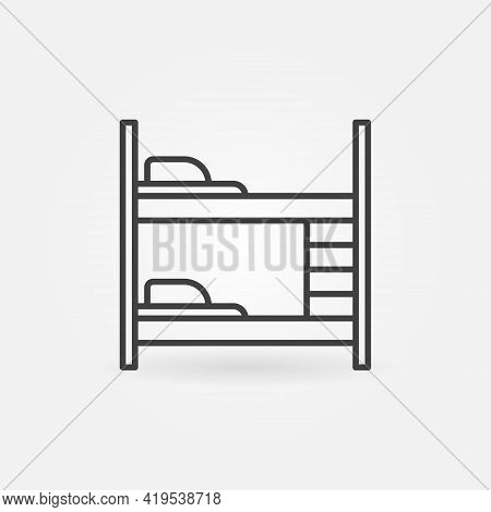Bunk Or Two-tier Bed Vector Thin Line Concept Icon