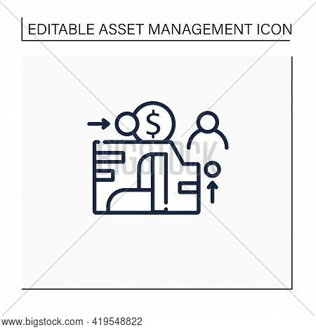 Eam Line Icon. Enterprise Asset Management.plan, Optimize, Execute, Track Needed Maintenance Activit