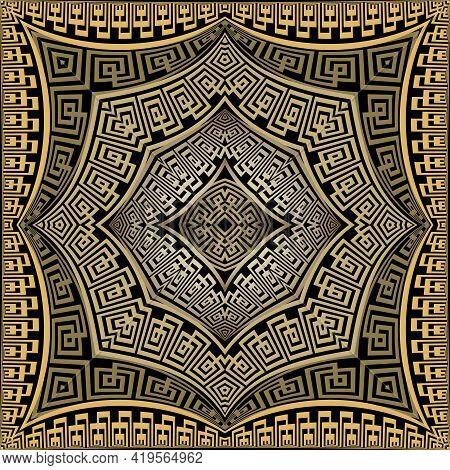 Modern Greek Seamless Pattern. Vector Geometric Background. Tribal Ethnic Backdrop. Greek Ancient St
