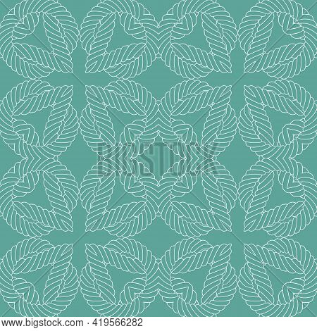 Ropes And Strings Seamless Pattern. Ethnic Ornamental Lines Vector Background. Repeat Knitted Orname