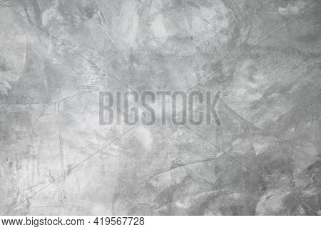 Exposed Grey Cement Wall Texture For Background