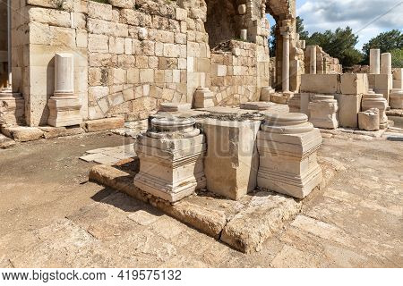 The Remains Of The Church Of St. Anne Of The Byzantine Period In The Ruins Of The City Of Maresh, At