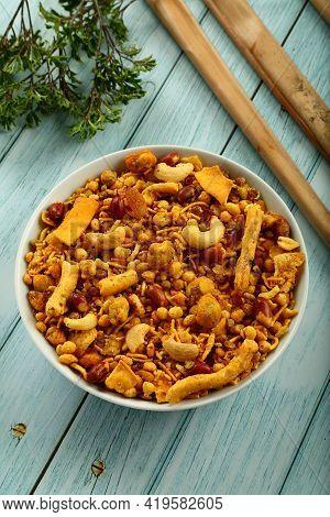 Namkeen, Famous Indian Savory Snack Food, Mixture.