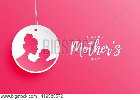 Happy Mothers Day Tag Background Vector Template Design