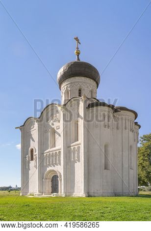 Church Of The Intercession On The Nerl. Vladimir, Russia