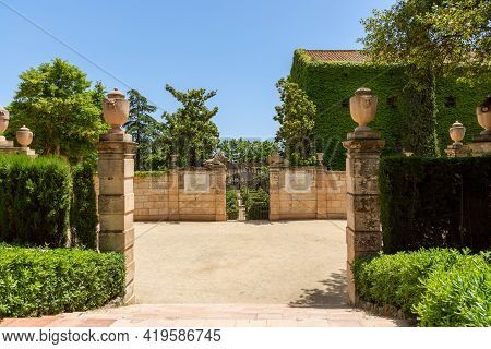 Park Of The Labyrinth Of Horta (parc Del Laberint D'horta) In Barcelona, Spain