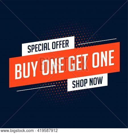 Buy One Get One Sale Banner Design