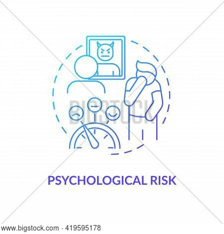 Psychological Risk Concept Icon. Purchase Risk Factor Idea Thin Line Illustration. Targeted Marketin