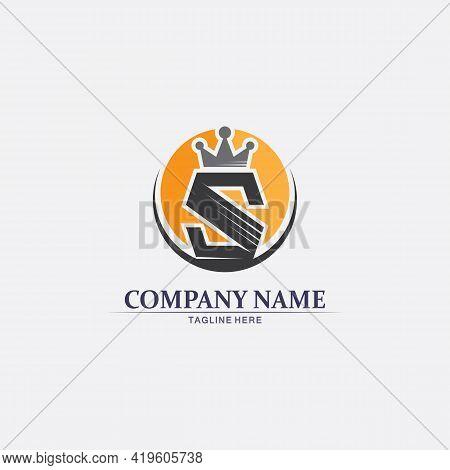 S Crown Logo Business Corporate S Letter Logo Design Vector S Logo Font And Alphabet