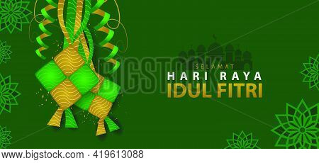Selamat Hari Raya Idul Fitri Banner Background Design