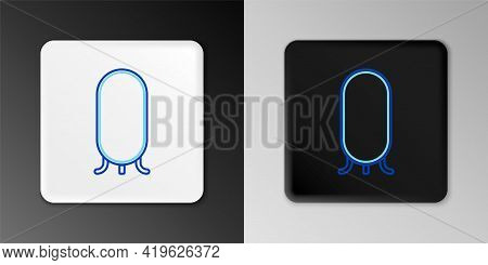 Line Big Full Length Mirror For Bedroom, Shops, Backstage Icon Isolated On Grey Background. Colorful