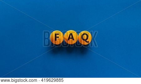 Faq, Frequently Asked Questions Symbol. Orange Table Tennis Balls With Word 'faq, Frequently Asked Q