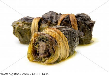 Mazzarelle, Are A Traditional Dish From The Italian Province Of Teramo, It Consists Of Lamb Offal Ro