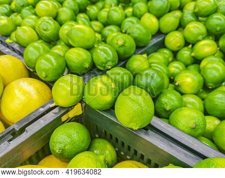 Juicy Lime Green Lime Background Texture Mexico.
