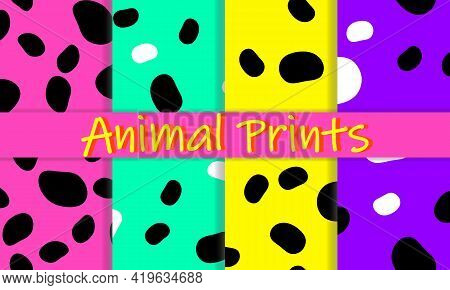 Leopard Print Design. Animal Skin Pattern.vector Illustration.
