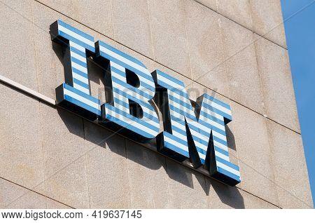 Lugano, Ticino, Switzerland - 1st April 2021 : Ibm (international Business Machines Corporation) Sig