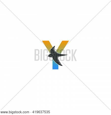 Letter Y Logo With Swift Bird Icon Design Vector Template