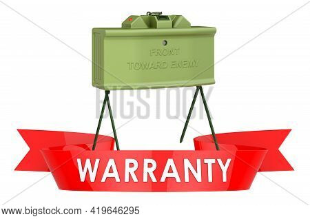 Anti-personnel Mine Warranty, Service Concept. 3d Rendering Isolated On White Background