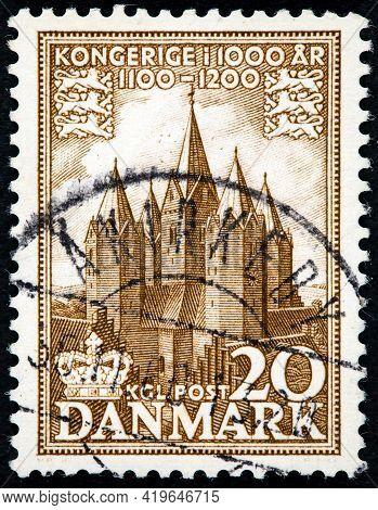 Denmark - Circa 1953: A Stamp Denmark 1953 The 1000th Anniversary Of The Kingdom Of Denmark Church O