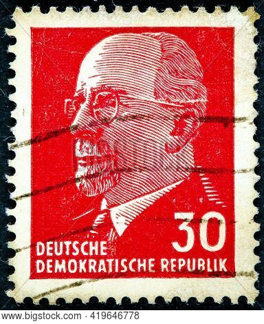 Gdr - Circa 1961: Post Stamp Printed In German Democratic Republic - East Germany Shows Chairman Wal