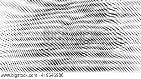 Reticulated Texture Of Lines And Moire Effect. Linear Background With Stabilized Filling Of Intersec