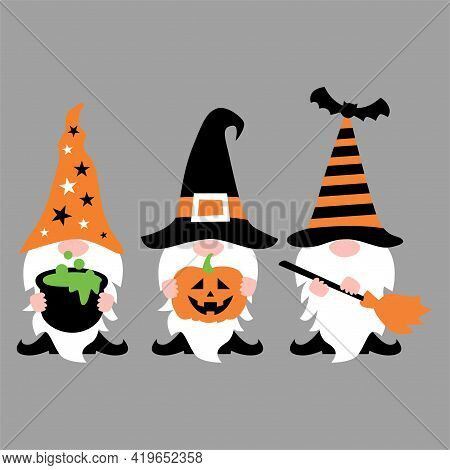 Halloween Gnome T Shirt Design Vector, Icons