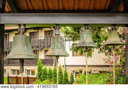 Despotovac, Serbia - March 23. 2013: Orthodox Monastery Manasija-despotovac,serbia. The Bells In The
