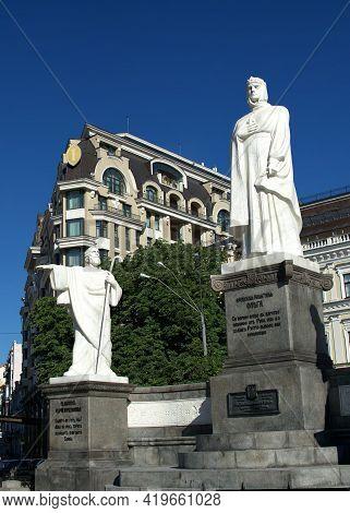 Monument To Princess Olga In Kyiv, Ukraine