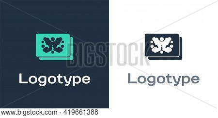 Logotype Rorschach Test Icon Isolated On White Background. Psycho Diagnostic Inkblot Test Rorschach.