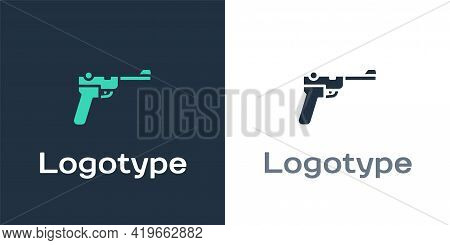 Logotype Mauser Gun Icon Isolated On White Background. Mauser C96 Is A Semi-automatic Pistol. Logo D