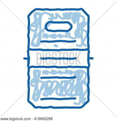 Police Officer Shield Sketch Icon Vector. Hand Drawn Blue Doodle Line Art Police Officer Shield Sign