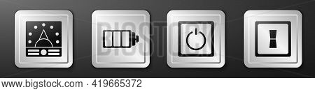 Set Ampere Meter, Multimeter, Voltmeter, Battery Charge Level Indicator, Electric Light Switch And E